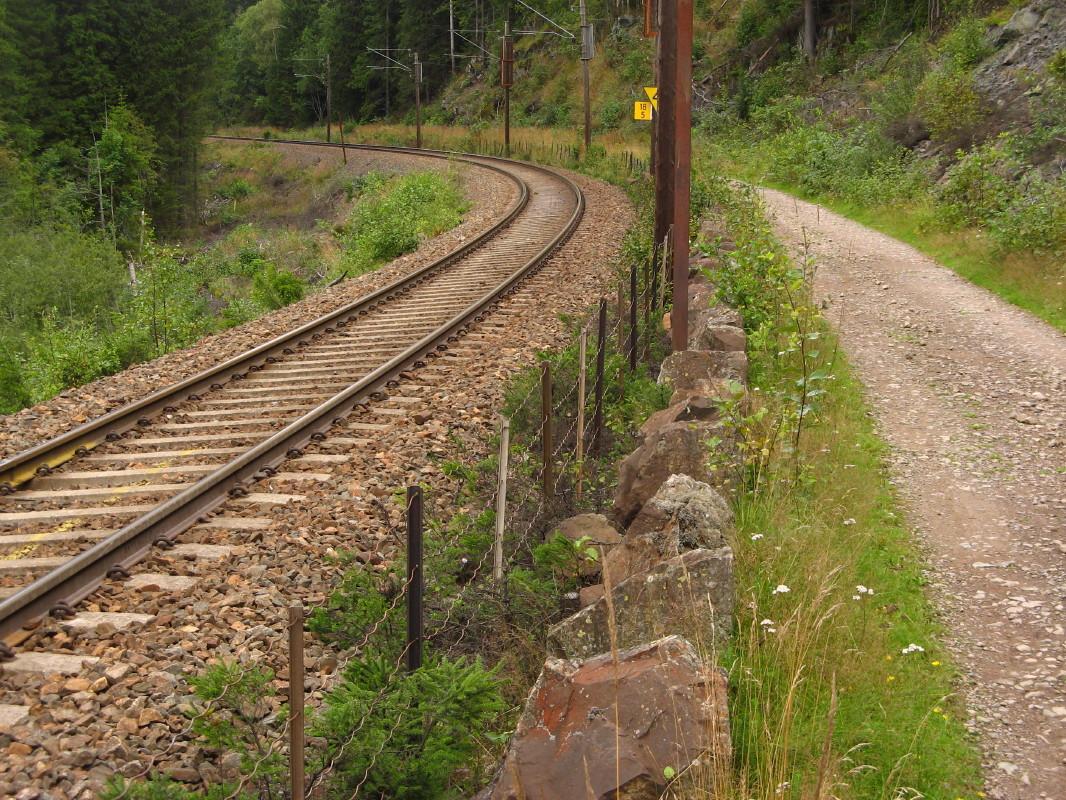 Just follow the railway. Photo: Øyvind Wold